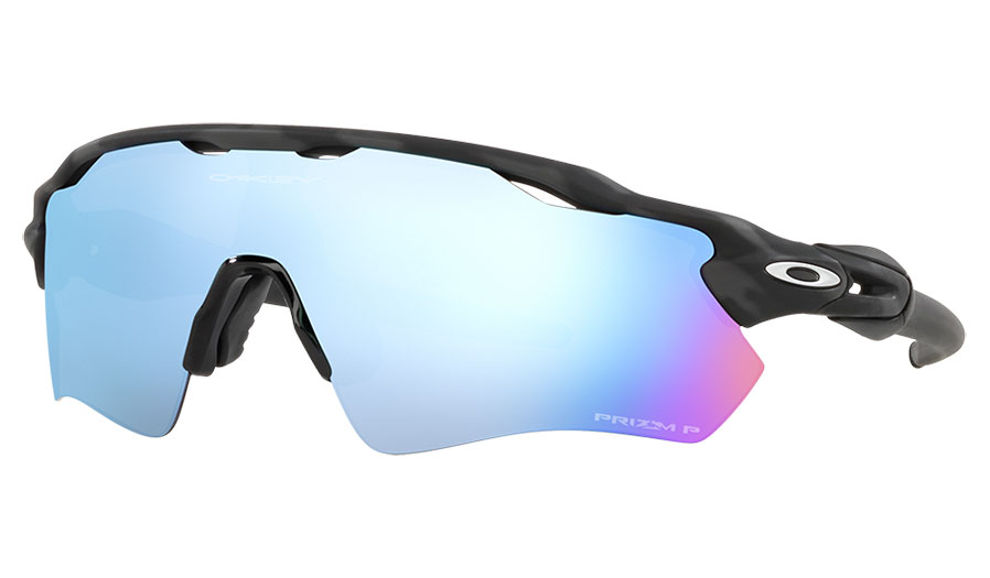 Oakley Radar EV Path Sunglasses - Matte Black Camo / Prizm Deep Water Polarised