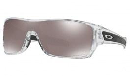 Oakley Turbine Rotor Sunglasses - Polished Clear / Prizm Black Polarised