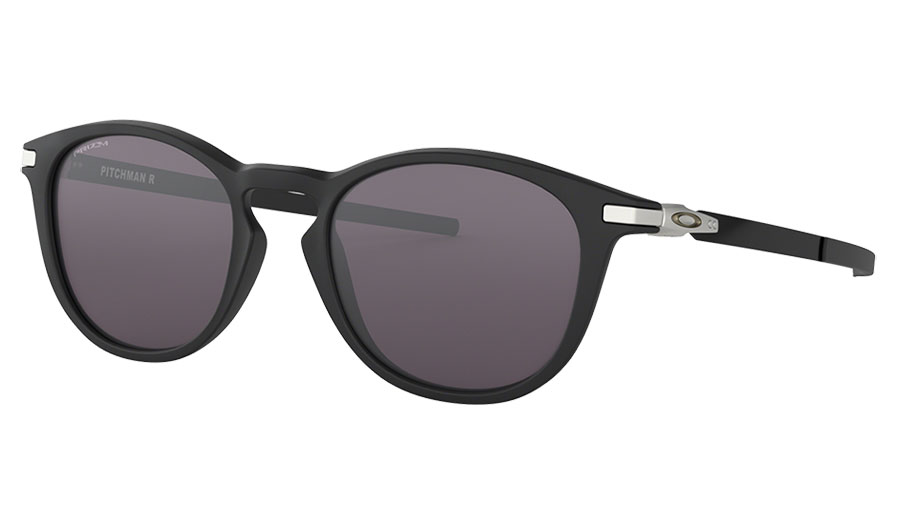 Oakley Pitchman R Sunglasses - Satin Black / Prizm Grey