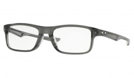 Oakley Plank 2.0 Prescription Glasses - Polished Grey Smoke - Essilor Prescription Lenses