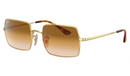 Ray-Ban RB1969 Rectangle Sunglasses - Gold / Brown Gradient