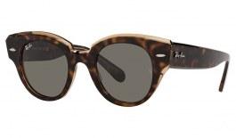 Ray-Ban RB2192 Roundabout Sunglasses - Havana on Transparent Brown / Dark Grey
