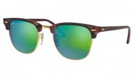 Ray-Ban RB3016 Clubmaster Sunglasses - Sand Havana / Green Flash