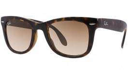 Ray-Ban RB4105 Folding Wayfarer Sunglasses - Tortoise / Brown (B-15 XLT)