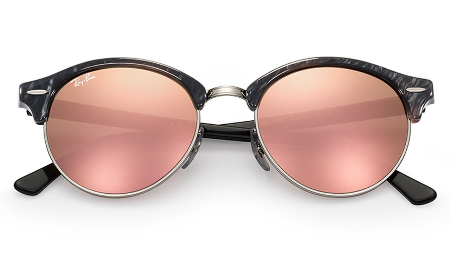 83552df98d472 Ray-Ban RB4246 Clubround Sunglasses - Black   Silver   Copper Flash ...
