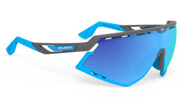 Rudy Project Defender Prescription Sunglasses - Clip-On Insert - Matte Pyombo & Azure / Multilaser Blue