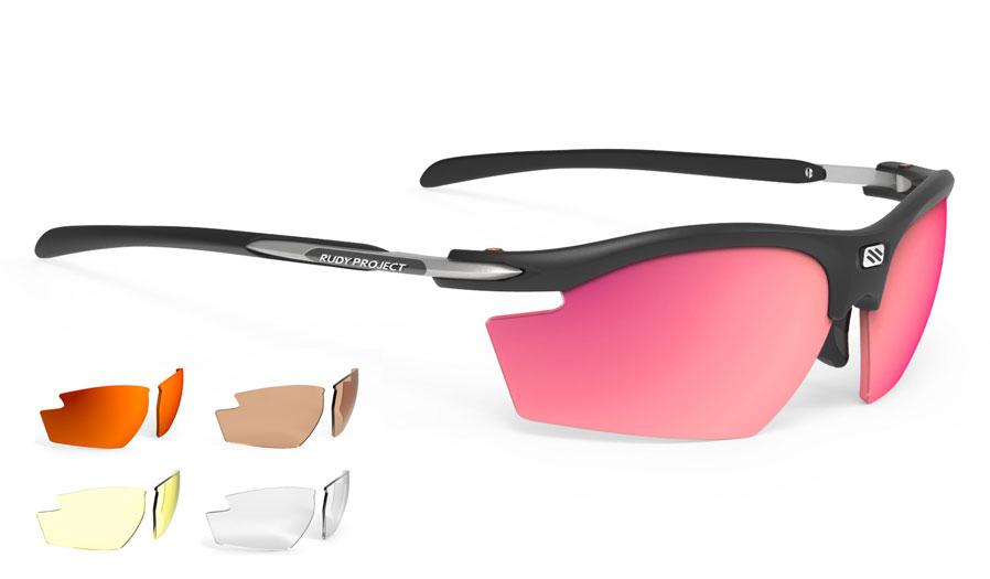 Rudy Project Rydon Prescription Sunglasses - Clip-On Insert - Matte Black (Shooting Edition) / 5 Lens Kit