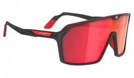 Rudy Project Spinshield Sunglasses - Matte Black / Multilaser Red