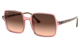 Ray-Ban RB1973 Square II Sunglasses - Transparent Pink / Brown Pink Gradient