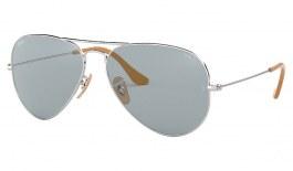 Ray-Ban RB3025 Aviator Sunglasses - Silver / Evolve Blue Photochromic