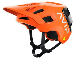 POC Kortal Race MIPS Mountain Bike Helmet - Matte Fluorescent Orange AVIP & Uranium Black