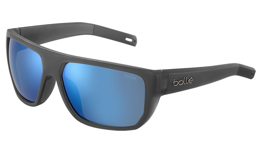Bolle Vulture Sunglasses - Matte Crystal Grey / Offshore Blue HD Polarised