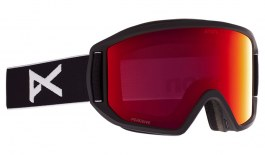 Anon Relapse Ski Goggles - Black / Perceive Sunny Red + Amber