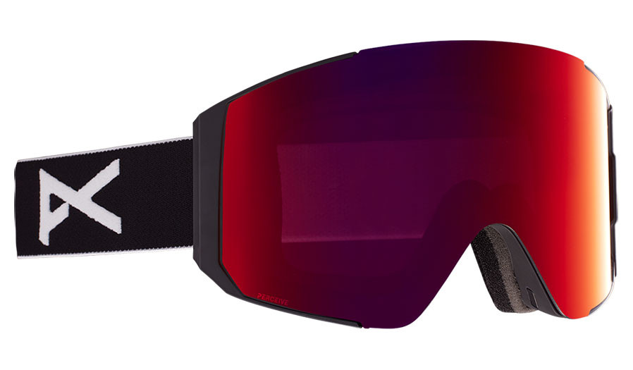 Anon Sync Ski Goggles - Black / Perceive Sunny Red + Perceive Cloudy Burst