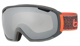 Bolle Tsar Ski Goggles - Matte Grey & Neon Orange / Black Chrome