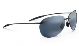 Maui Jim Sugar Beach Sunglasses - Gloss Black / Neutral Grey Polarised