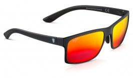 Maui Jim Pokowai Arch Sunglasses - Matte Black / Hawaii Lava Polarised