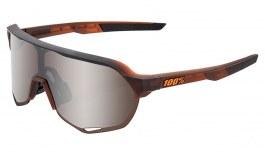 100% S2 Sunglasses - Matte Translucent Brown Fade / HiPER Silver Mirror + Clear