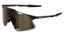 100% Hypercraft Sunglasses - Matte Black / Soft Gold Mirror + Clear
