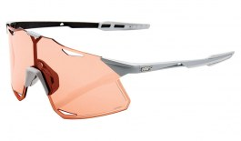 100% Hypercraft Sunglasses - Matte Stone Grey / HiPER Coral + Clear