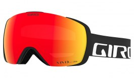 Giro Contact Ski Goggles - Black Wordmark / Vivid Ember + Vivid Infrared