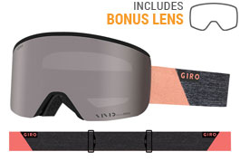 Giro Ella Prescription Ski Goggles - Grey Peach Peak / Vivid Onyx + Vivid Infrared