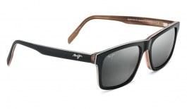 Maui Jim Waipio Valley Sunglasses - Black, Grey & Tan Horn / Neutral Grey Polarised