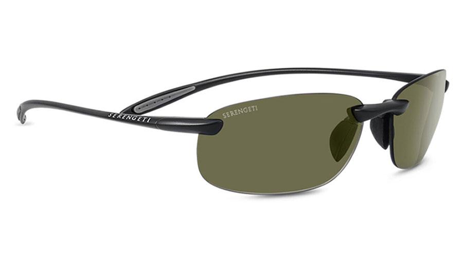 Serengeti Nuvola Sunglasses - Satin Black / 555nm Polarised Photochromic