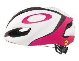 Oakley ARO 5 Road Bike Helmet - Matte White & Rubine Red