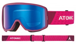 Atomic Count Jr Cylindrical Ski Goggles - Berry Pink / Blue Flash