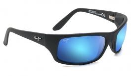 Maui Jim Peahi Sunglasses - Matte Black / Blue Hawaii Polarised