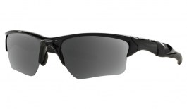 Oakley Half Jacket 2.0 XL Prescription Sunglasses - Polished Black (Satin Chrome Icon)