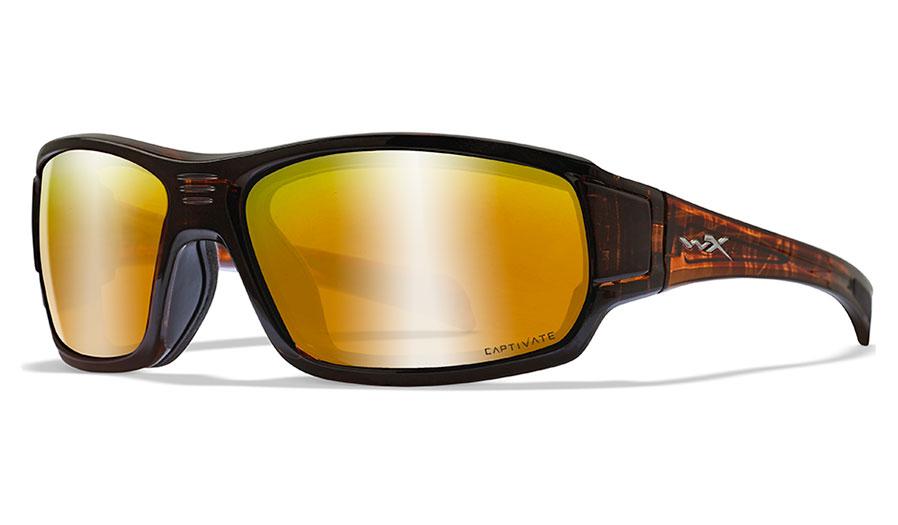 Wiley X Breach Sunglasses - Matte Hickory Brown / Captivate Bronze Mirror Polarised