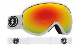 Electric Masher Ski Goggles - Gloss White / Brose Red Chrome