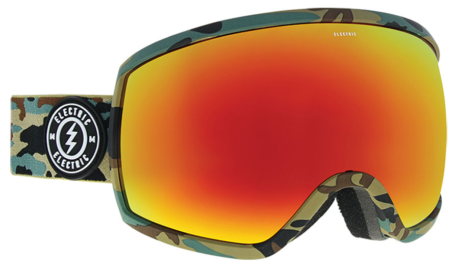 Electric EGG Ski Goggles - Camo / Brose Red Chrome
