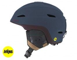 Giro Zone MIPS Ski Helmet - Matte Turbulence & Maroon