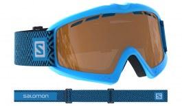 Salomon Kiwi Access Ski Goggles - Blue / Solar Tonic Orange