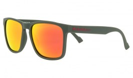 Red Bull Leap Sunglasses - Matte Olive Green / Brown Red Mirror Polarised