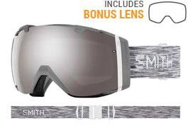 Smith Optics I/O Ski Goggles - Cloudgrey / ChromaPop Sun Platinum Mirror + ChromaPop Storm Rose Flash