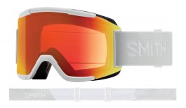Smith Squad Ski Goggles - White Vapor / ChromaPop Everyday Red Mirror + Yellow