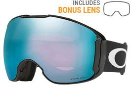 Oakley Airbrake XL Ski Goggles - Jet Black / Prizm Sapphire Iridium + Prizm HI Pink Iridium