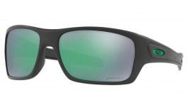 Oakley Turbine Sunglasses - Matte Black / Prizm Jade Polarised