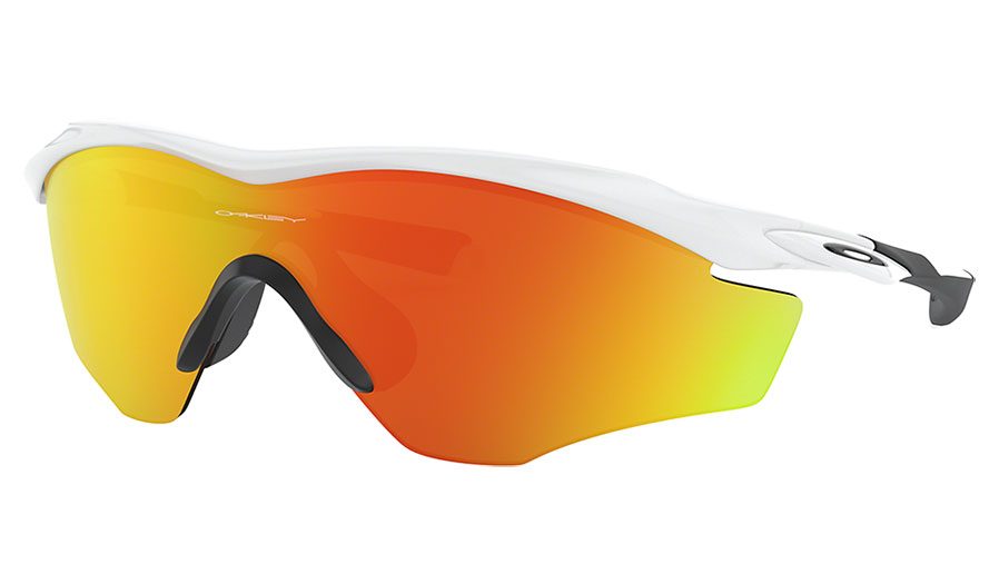 Oakley M2 Frame XL Sunglasses - Polished White / Fire Iridium