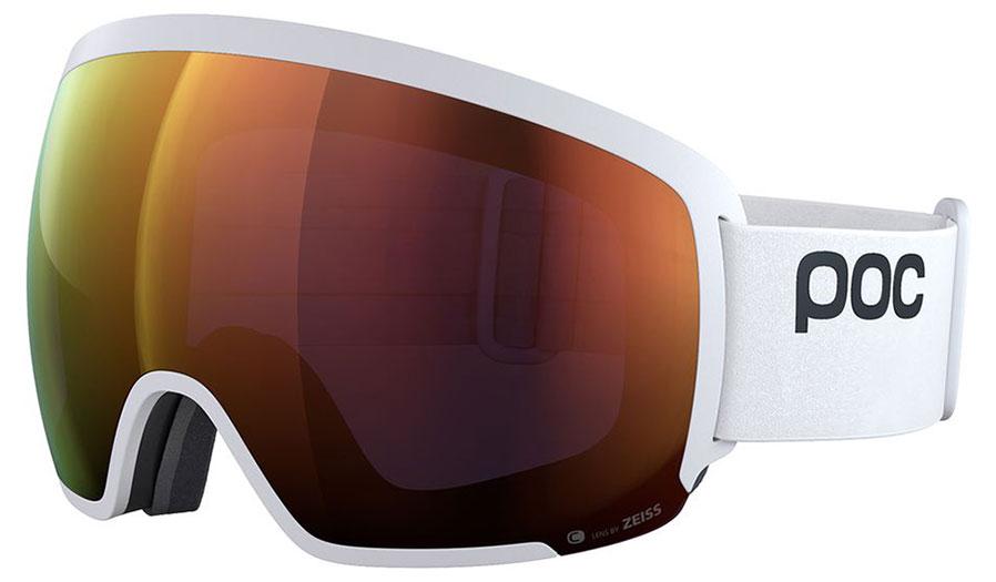 POC Orb Clarity Prescription Ski Goggles - Hydrogen White / Spektris Orange