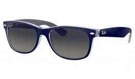Ray-Ban RB2132 New Wayfarer Sunglasses - Blue on Transparent / Grey Gradient