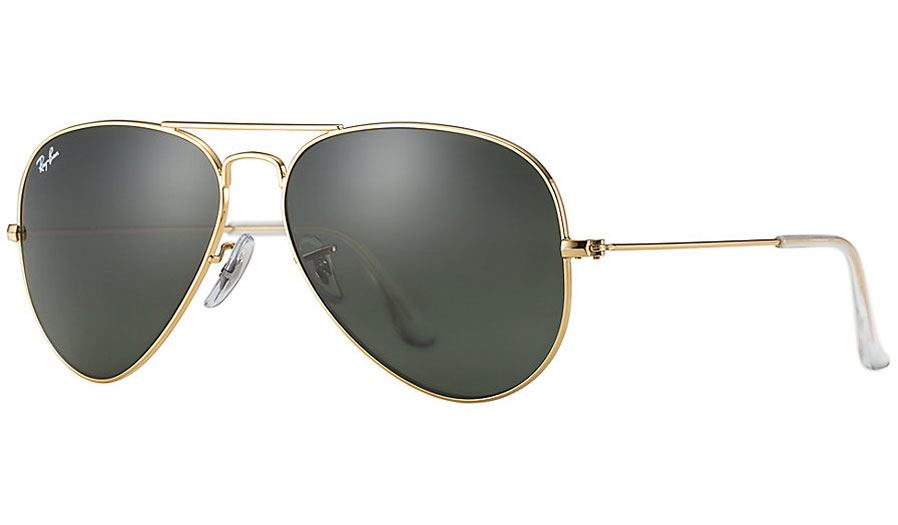 e148d8e7b2 Ray-Ban RB3025 Aviator Sunglasses - Gold   Green (G-15 XLT) - RxSport