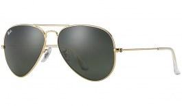 Ray-Ban RB3025 Aviator Sunglasses - Gold / Green (G-15)