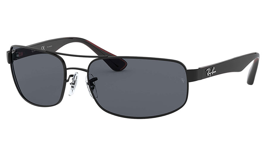 Ray-Ban RB3445 Sunglasses - Matte Black / Dark Grey Polarised