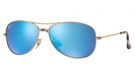 Ray-Ban RB3562 Sunglasses - Gold / Blue Mirror Chromance Polarised