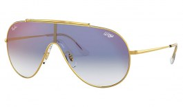 Ray-Ban RB3597 Wings Sunglasses - Gold / Blue Gradient Red Mirror